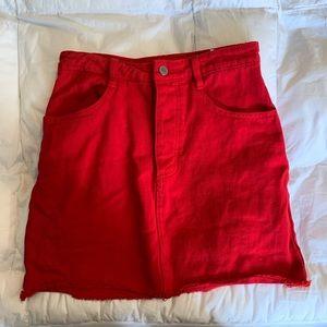 Brandy Melville/John Galt Red Denim Skirt